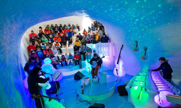 Italy: Ice Music | The sound of musical instruments made of ice